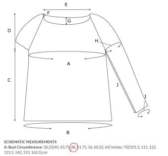 Sweater schematic